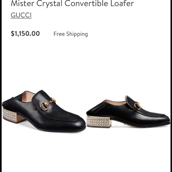 6c4c9a217 Gucci Shoes   Mister Crystal Convertible Loafers   Poshmark